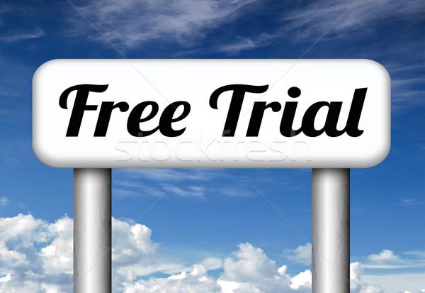 free trial sample Stock photo © kikkerdirk