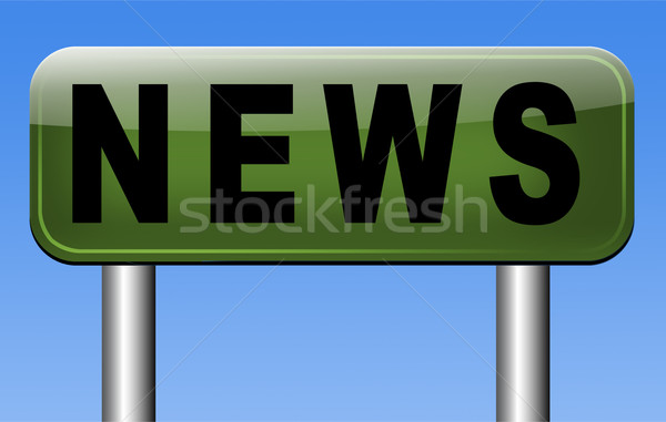 breaking news Stock photo © kikkerdirk