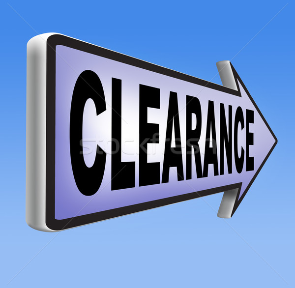 clearance Stock photo © kikkerdirk