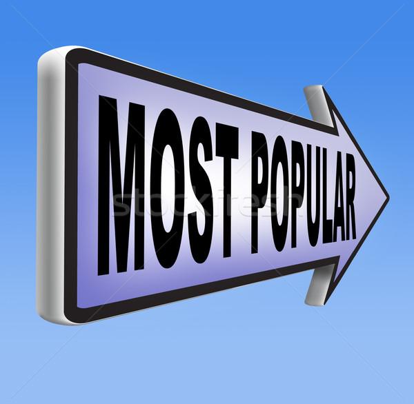 Popular assinar popularidade bestseller mercado líder Foto stock © kikkerdirk