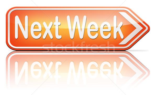 Stok fotoğraf: Sonraki · hafta · yakında · gelecek · gündem · zaman