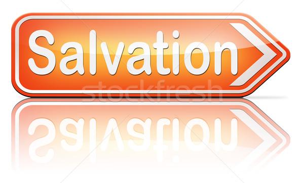 Zbawienie Jezusa boga zapisać dusza podpisania Zdjęcia stock © kikkerdirk
