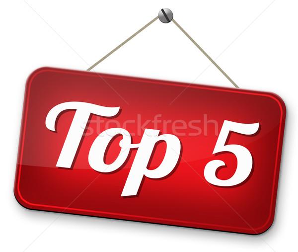 top 5 charts Stock photo © kikkerdirk