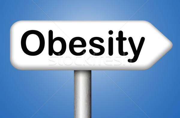 Fettleibigkeit Übergewicht müssen Ernährung Gesundheit Fett Stock foto © kikkerdirk