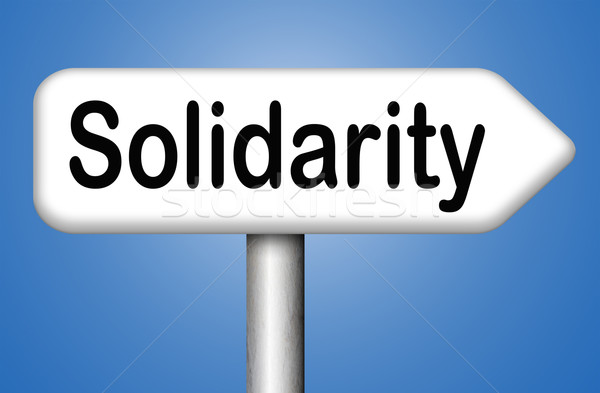 Szolidaritás társadalombiztosítás nemzetközi közösség együttműködés biztonság Stock fotó © kikkerdirk