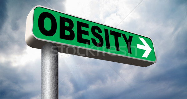 obesity road sign Stock photo © kikkerdirk