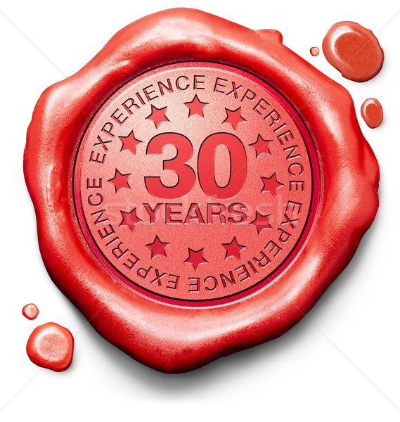 Dreißig Jahre Erfahrung 30 Jahr Sachverstand Stock foto © kikkerdirk