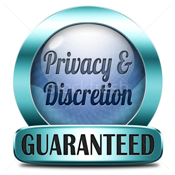 privacy and discretion Stock photo © kikkerdirk