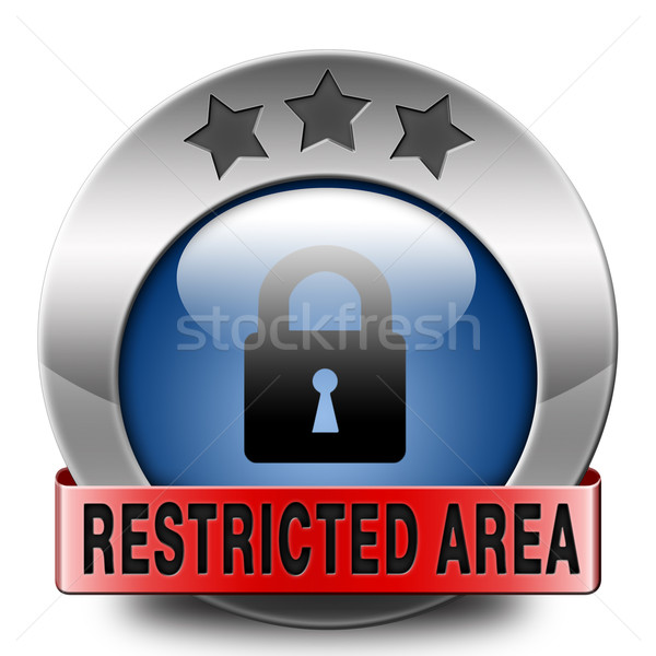 restricted area Stock photo © kikkerdirk