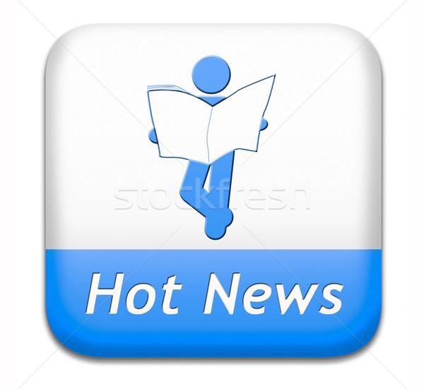 Hot dagelijks breaking news nieuws druk Stockfoto © kikkerdirk