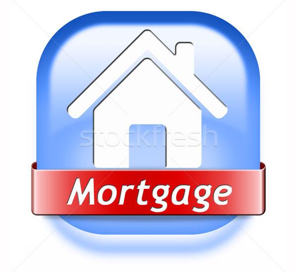 mortgage button Stock photo © kikkerdirk