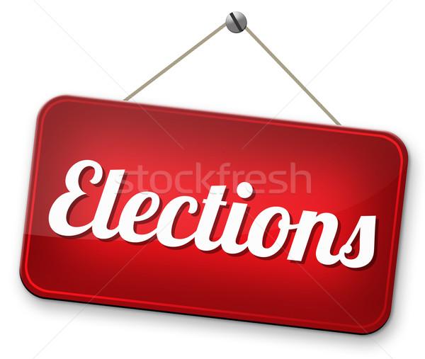 選挙 新しい 政府 社長 無料 選挙 ストックフォト © kikkerdirk