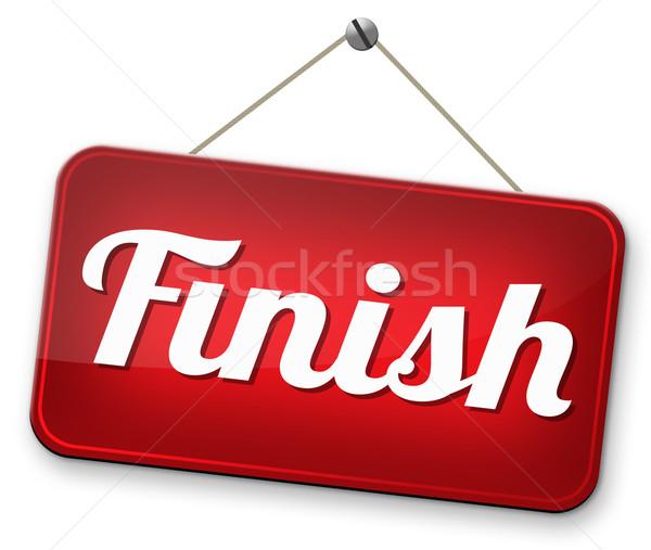Zakończyć koniec konkurencja wyjście na zewnątrz Zdjęcia stock © kikkerdirk