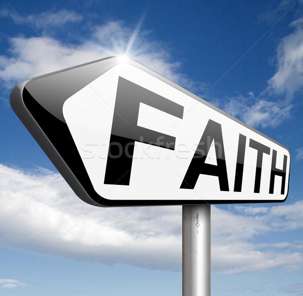 Glauben Vertrauen beten jesus Gott heilig Stock foto © kikkerdirk