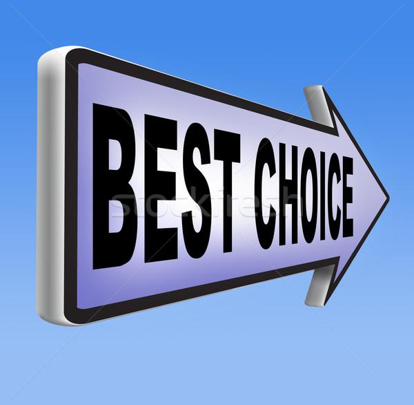Górę wyboru najlepszy produktu jakości Zdjęcia stock © kikkerdirk