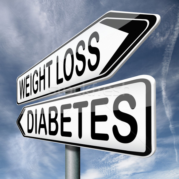 weight loss or diabetes Stock photo © kikkerdirk