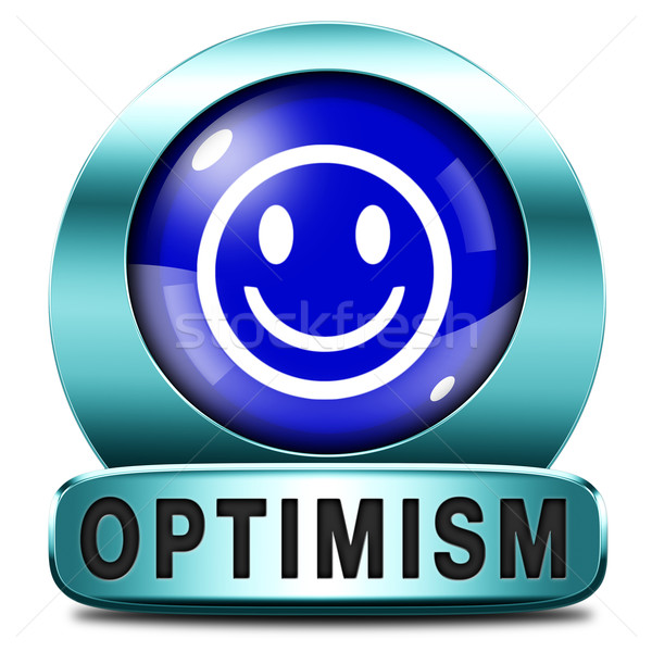 Optimisme icon positief denken positiviteit houding Stockfoto © kikkerdirk