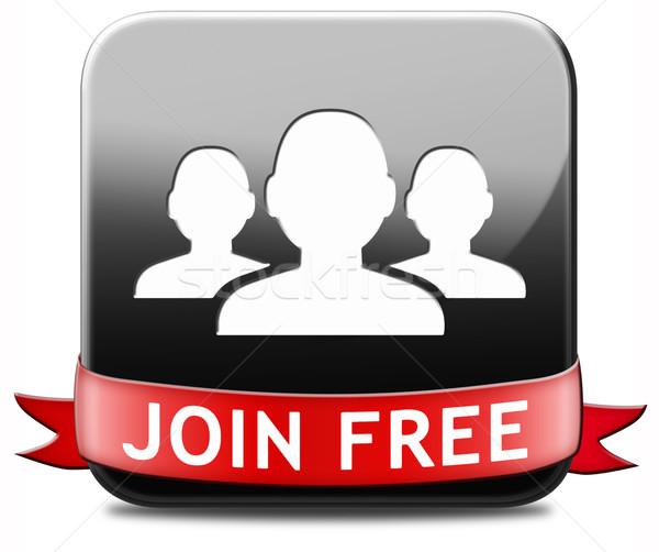 join free button Stock photo © kikkerdirk