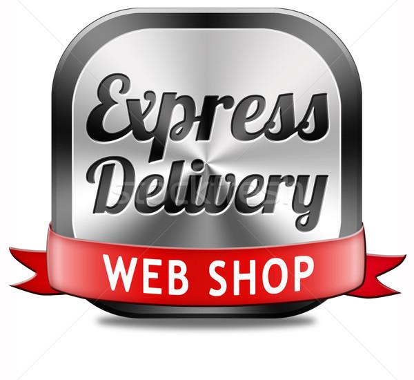 Corriere espresso web shop pacchetto spedizione online Foto d'archivio © kikkerdirk