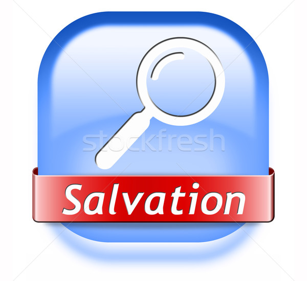Odnaleźć zbawienie Jezusa boga zapisać dusza Zdjęcia stock © kikkerdirk