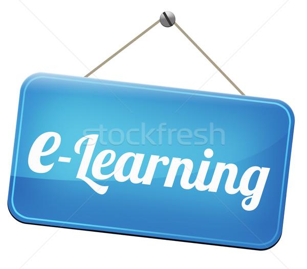On-line educação internet aprendizagem abrir Foto stock © kikkerdirk