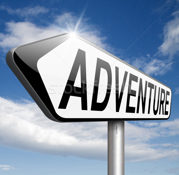 Macera sporları macera seyahat keşfetmek dünya maceraperest Stok fotoğraf © kikkerdirk