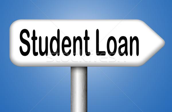 Student lening universiteit college onderwijs Stockfoto © kikkerdirk