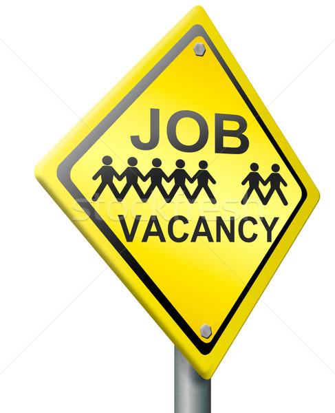 job vacancy Stock photo © kikkerdirk