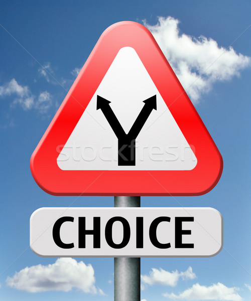 difficult choice Stock photo © kikkerdirk