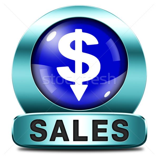 Eladó ikon online vásárlás árengedmény háló bolt Stock fotó © kikkerdirk
