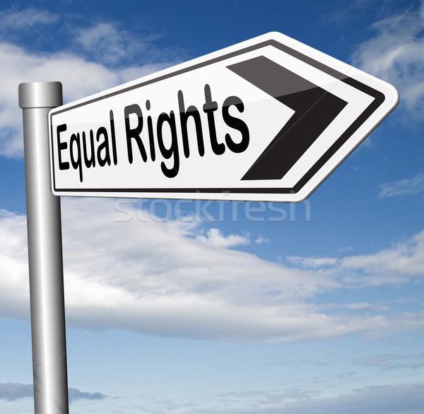 égal droits égalité tous homme femmes Photo stock © kikkerdirk