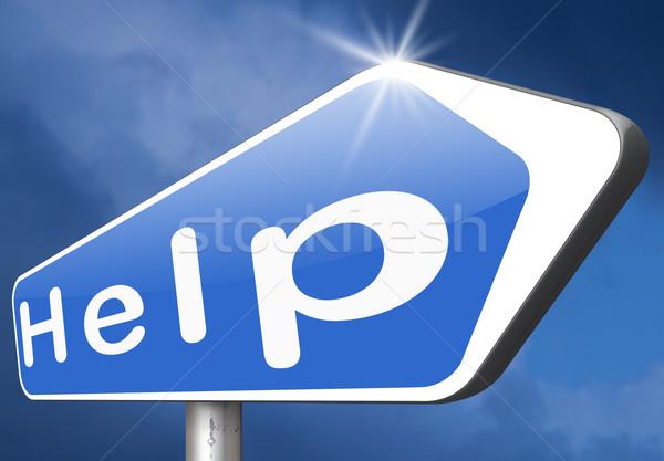 Segítség keresett ad segítő kéz szükség támogatás Stock fotó © kikkerdirk