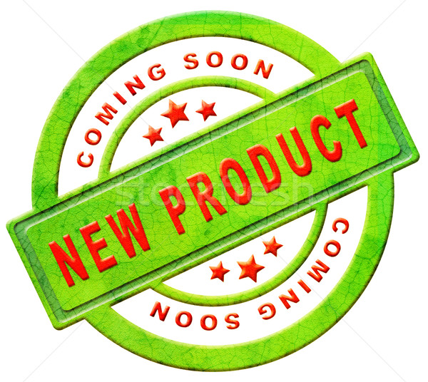 Stock photo: new product coming soon