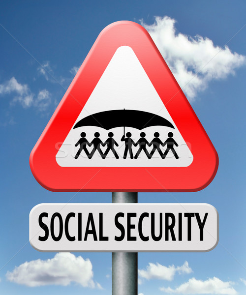 Társadalombiztosítás szolgáltatások haszon tervek nyugdíj egészségügy Stock fotó © kikkerdirk