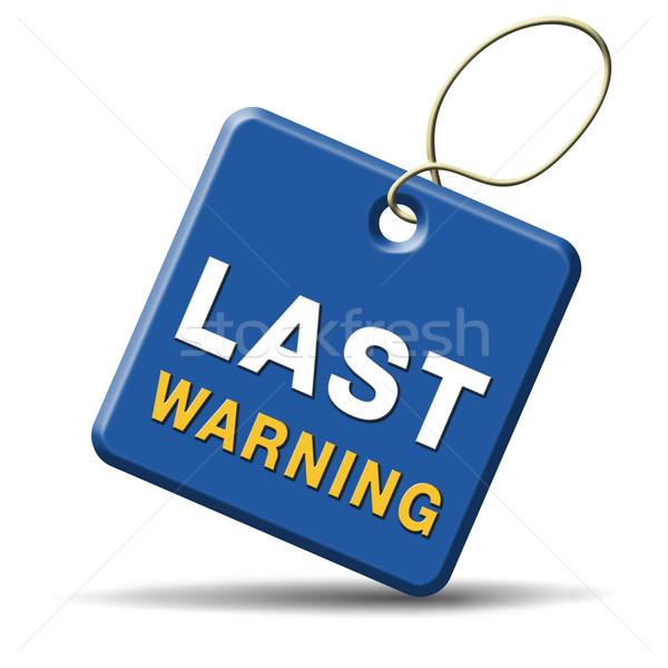 Stock fotó: Utolsó · figyelmeztető · jel · végső · figyelmeztetés · ikon · végső