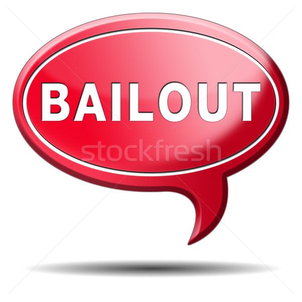 Faillissement economisch crisis financiële recessie icon Stockfoto © kikkerdirk