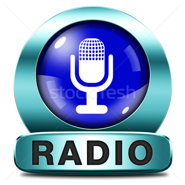 Stock photo: radio icon