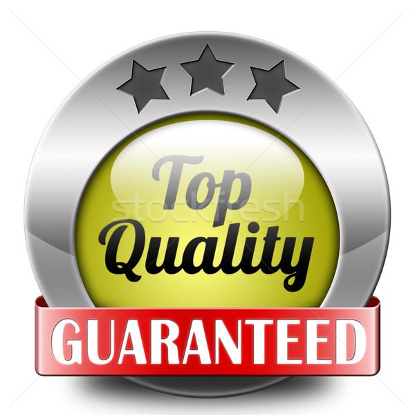 Górę jakości przycisk ikona produktu Zdjęcia stock © kikkerdirk