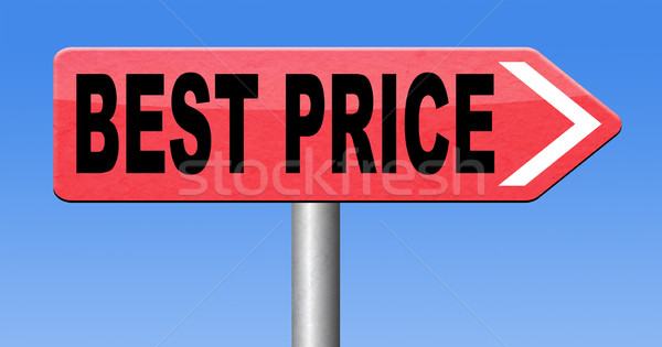 лучший цен дорожный знак стрелка продажи сделка Сток-фото © kikkerdirk