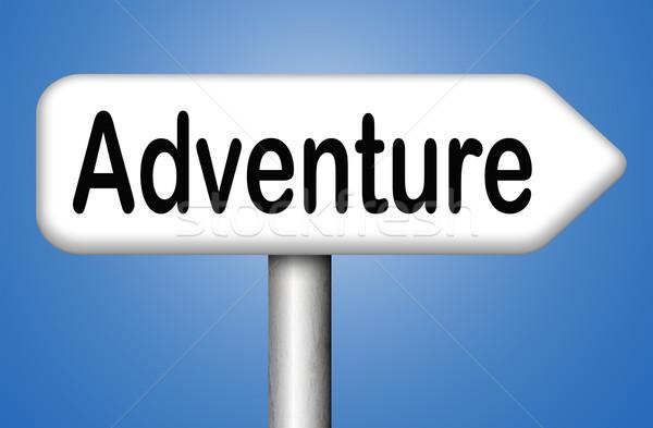 Aventura viajar mundo aventureiro Foto stock © kikkerdirk
