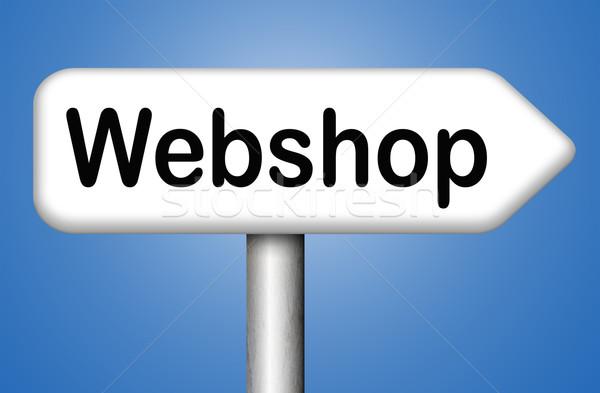Webshop online vásárlás internet bolt weboldal szalag Stock fotó © kikkerdirk