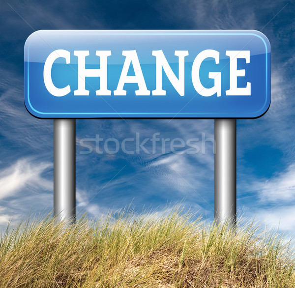 change ahead Stock photo © kikkerdirk