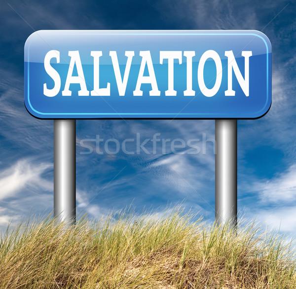 Zbawienie zaufania Jezusa boga zapisać dusza Zdjęcia stock © kikkerdirk