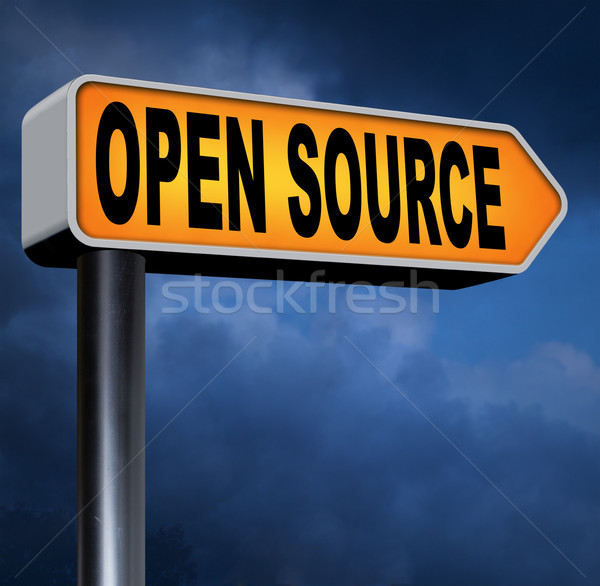 Ouvrir source programme logiciels économie internet Photo stock © kikkerdirk