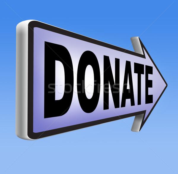 Darować dobroczynność dar dać darowizna wsparcia Zdjęcia stock © kikkerdirk