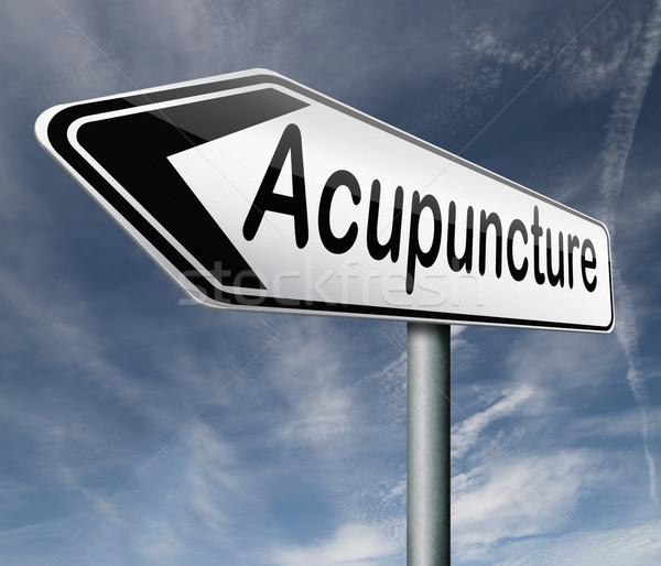 acupuncture Stock photo © kikkerdirk