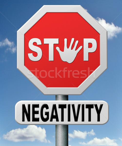 остановки отрицательность думать негативных положительный Сток-фото © kikkerdirk
