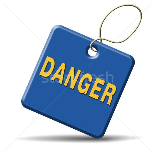 опасность икона опасный знак безопасности кнопки Сток-фото © kikkerdirk