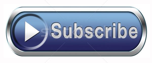 Abonnement knop online gratis lidmaatschap nieuwsbrief Stockfoto © kikkerdirk