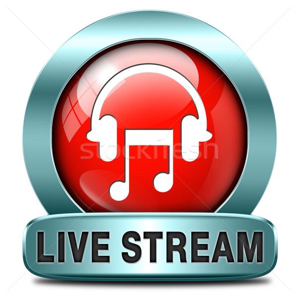 Viver córrego música ouvir canção Áudio Foto stock © kikkerdirk